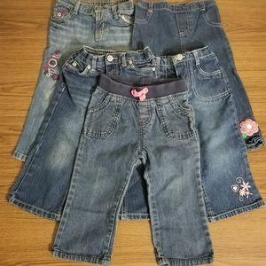 Baby Girl Jeans 5-Piece Bundle Size 18M
